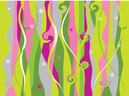 Abstract background, waves and strips Vector
