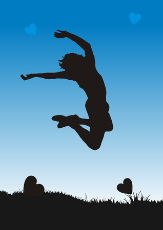 Happy people is jump Vector