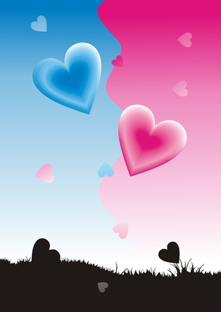 Valentine card. Heart shape Vector