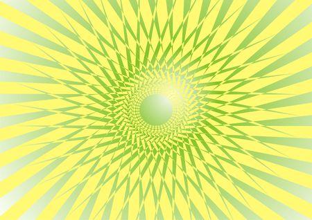 Summer yellow background, rays photo