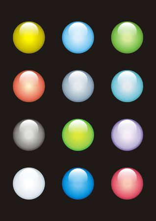 12 glass buttons of different colours Stock Photo - 2577013
