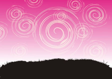 Grass and sky, abstract background Stock Vector - 2595552