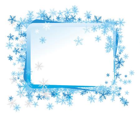 frozen food: Celebratory framework, a border decorated by a frosty pattern Illustration