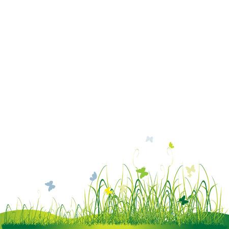 weeding: Grass silhouette green, summer background
