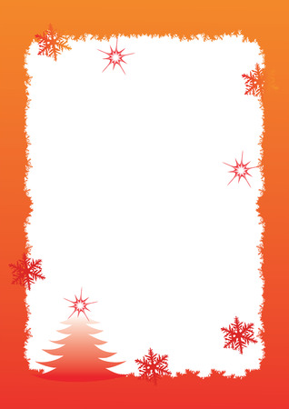picture card: Celebratory framework, a border decorated by a frosty pattern Illustration