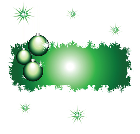 Celebratory framework decorated by New Years glass spheres Vector
