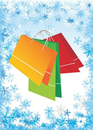 Shopping bags on  frame Stock Vector - 2615373