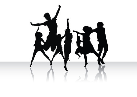 Group of peoples in dance Vector