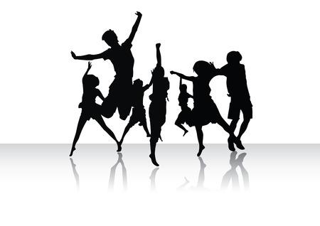 chicas bailando: Grupo de los pueblos en la danza