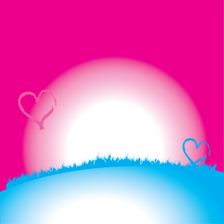 Valentine card. Heart shape, background Vector