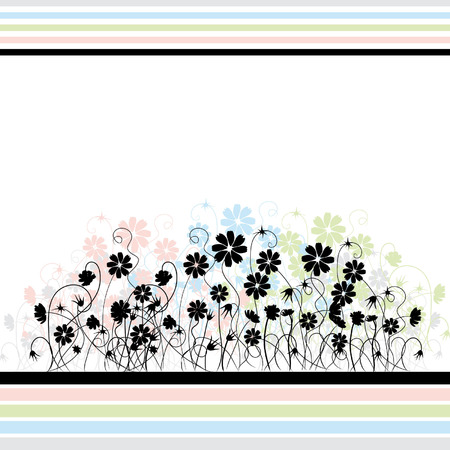 Abstract floral background, retro style Stock Vector - 2643309