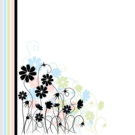 Abstract floral background, retro style Stock Vector - 2643298