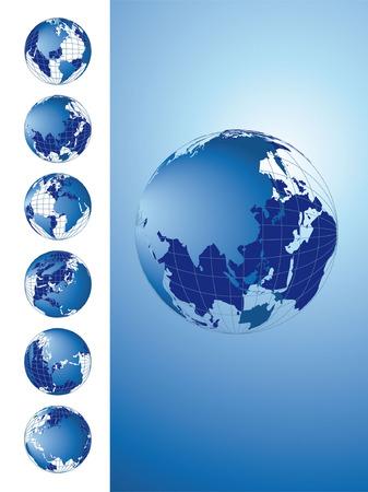 World map, 3D globe series Stock Vector - 2704183