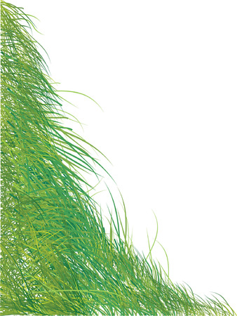 Grass silhouette green, summer background Stock Vector - 2887256