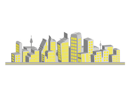 Cityscape, silhouettes of houses Stock Vector - 2939341