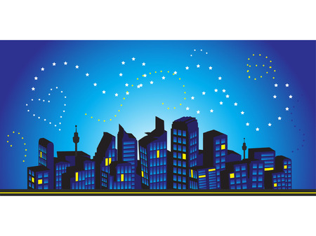 Cityscape frame, silhouettes of houses Vector