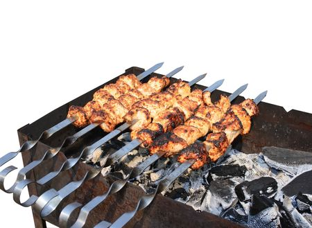 Chunks of meat, kebab Stock Photo - 2939351