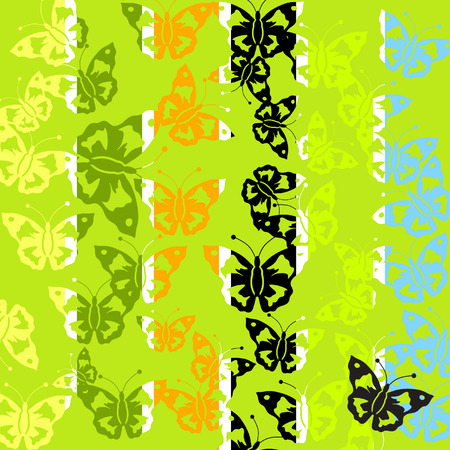 Abstract batterfly pattern Vector