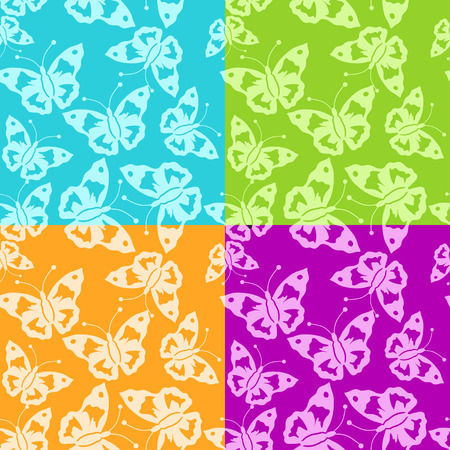 Abstract batterfly pattern seamless Vector