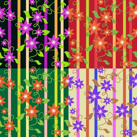 Floral wallpaper, seamless Stock Vector - 3040864