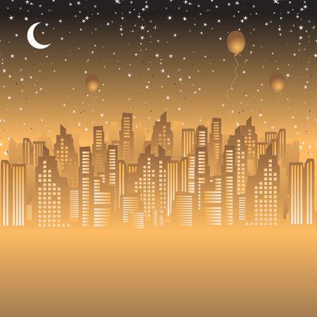 nightlife: City nightlife Illustration