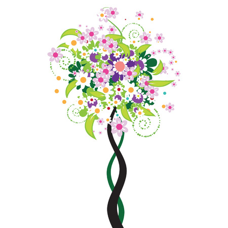 Beautiful floral tree Vector