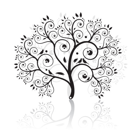 Art tree beautiful Vector