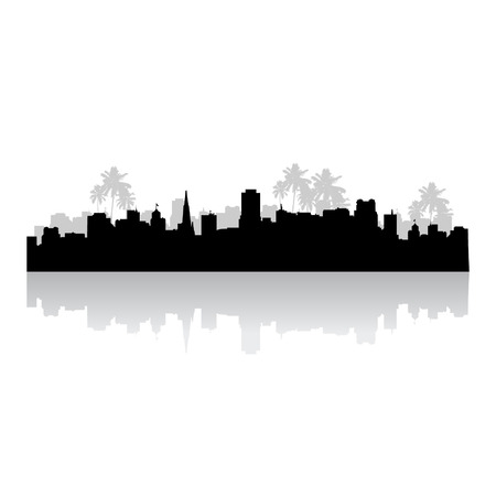 Tropical cityscape Vector