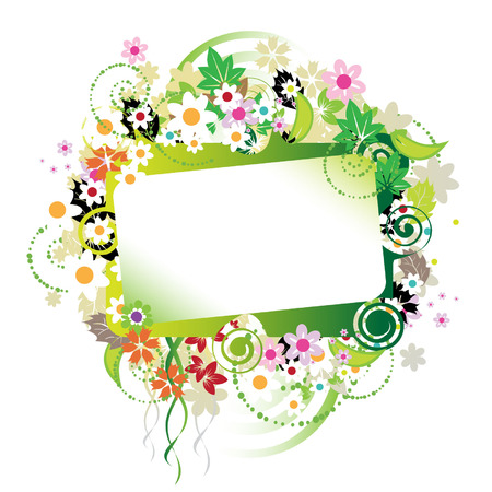 Floral frame beautiful Stock Vector - 3331218