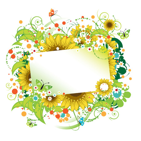 Floral frame beautiful Vector