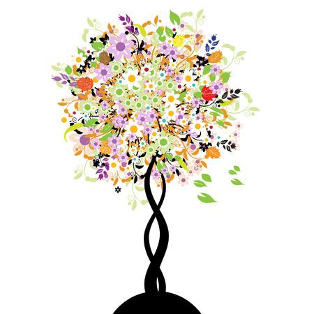 Bautiful floral tree Stock Vector - 3331227