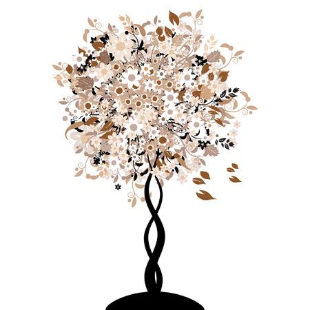 Bautiful floral tree Vector