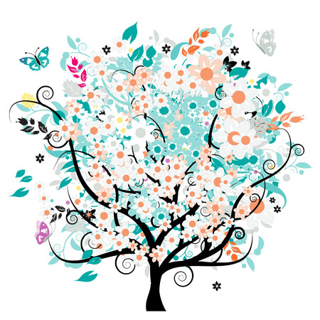 Bautiful floral tree Vector