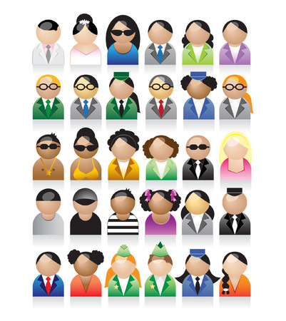 Set of peoples icons Vector