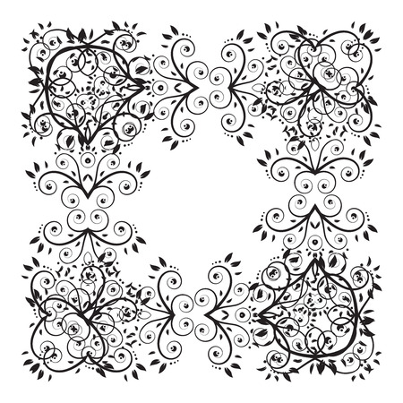 designer labels: Floral ornament Illustration