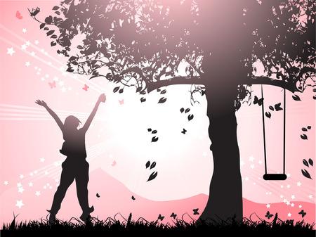 Be happy Illustration
