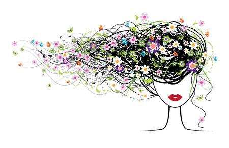 Chica cara, peinado floral