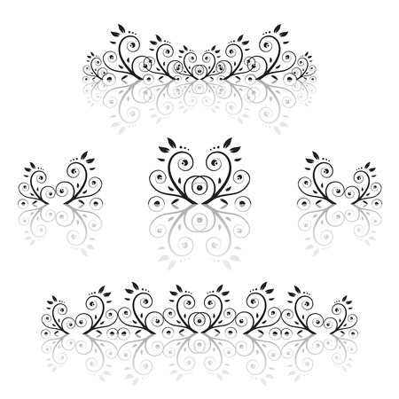 Set of floral ornament Stock Vector - 3349113