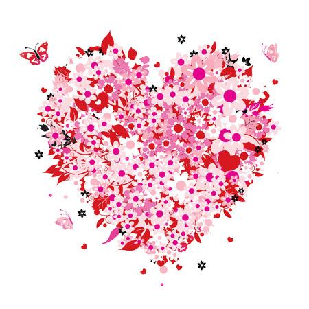 AlleinerzieherIn: Floral Herzen Form