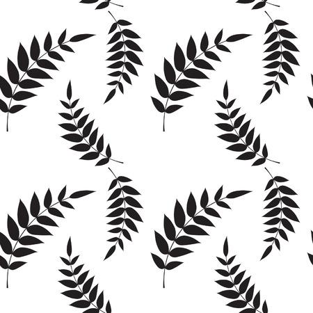 Seamless leaf wallpaper Vector