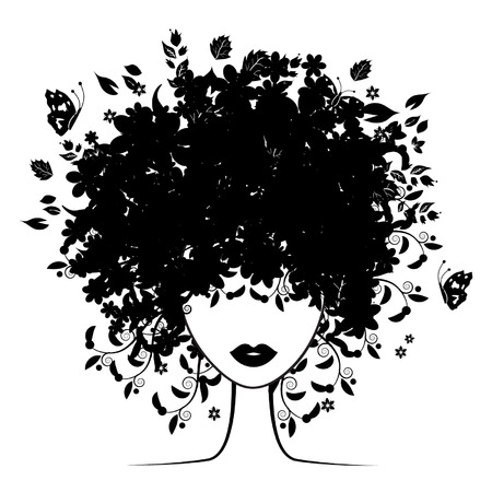 profile picture: Floral hairstyle