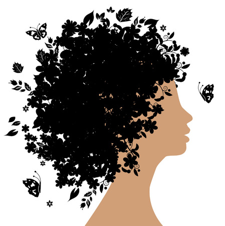Floral hairstyle Stock Vector - 3581448