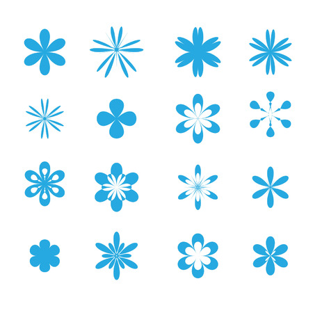 Set of design elements, flowers Stock Vector - 3581396