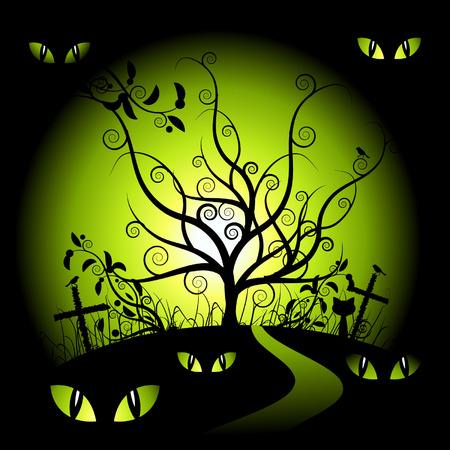 Halloween night Stock Vector - 3581384