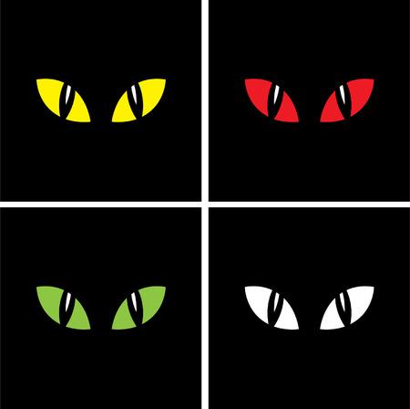 dark eyes: Halloween background, yeys Illustration