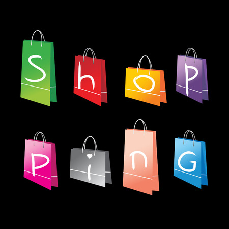 Shopping bags for you design Vector