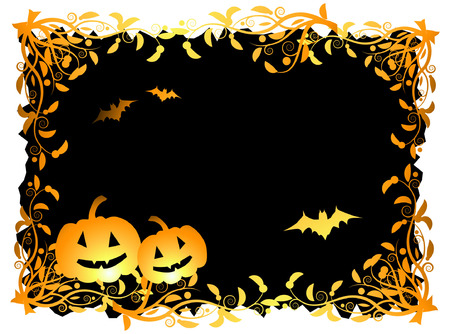 Halloween night background, vector illustration Stock Vector - 3609102
