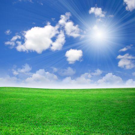 Green field beautiful Stock Photo - 3609114