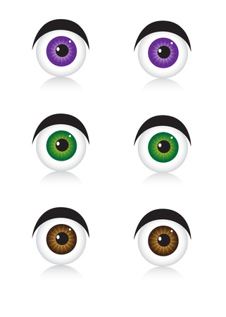 Eyes icons on white Vector
