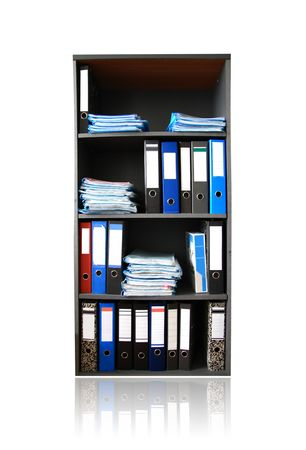 Rack with documents  photo